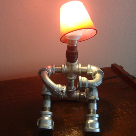 Home Dzine Home Decor Diy Diva Makes Galvanised Pipe Lamps