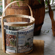 Wire mesh basket for magazines, towels or veggies