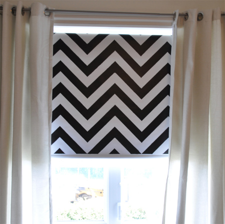 Home Dzine Craft Ideas How To Paint A Roman Blind Or Curtain