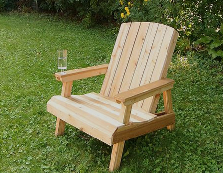 DIY Adirondack Garden Chair Plans