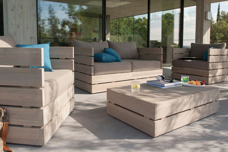 DIY outdoor garden furniture ideas for patio or deck