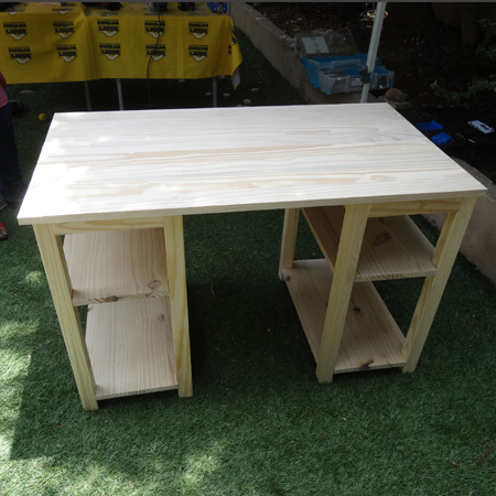 DIY easy home office or child's desk using PAR pine at builders warehouse