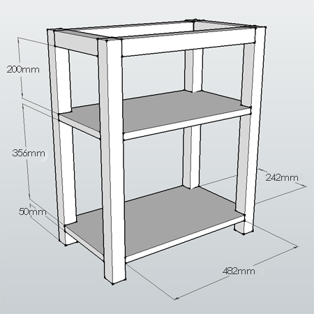 DIY easy home office or child's desk diagrams plans