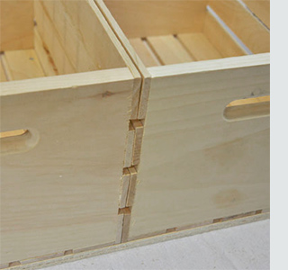 Wine crate storage coffee table