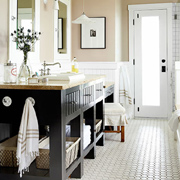 Bathrooms go from dated to dreamy