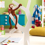 Monkey business tree-shaped coat rack