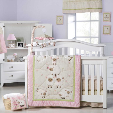 Decorate a gender-neutral nursery with a lamb or sheep theme