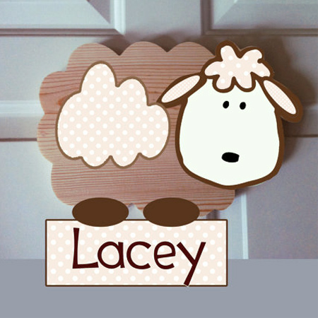 Decorate a gender-neutral nursery with a lamb or sheep theme room decor