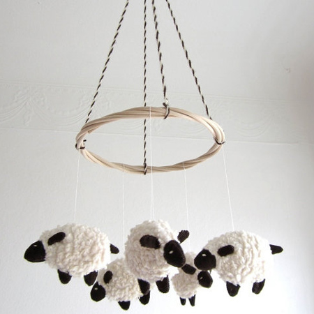 Decorate A Gender Neutral Nursery With Lamb Or Sheep Theme Woolly Lamp Mobile