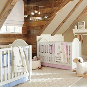 Gender-neutral lamb theme nursery