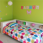 Affordable bedroom makeover for little girl