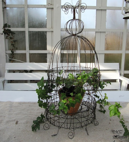 Crafty ideas to use wire for home decor projects cloche plant holder
