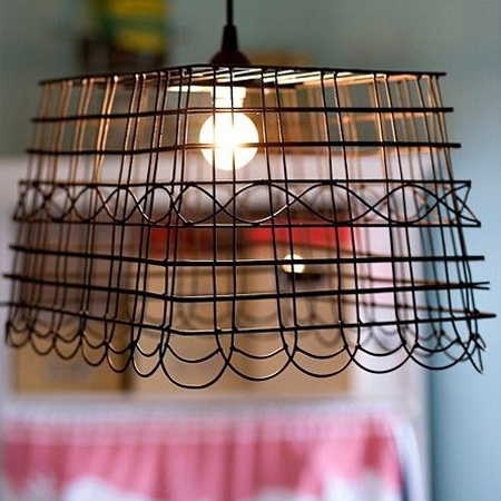 Crafty ideas to use wire for home decor projects basket wire lampshade