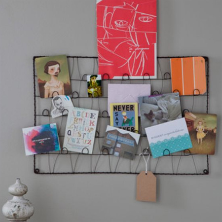 Crafty ideas to use wire for home decor projects wire notice board magazine rack