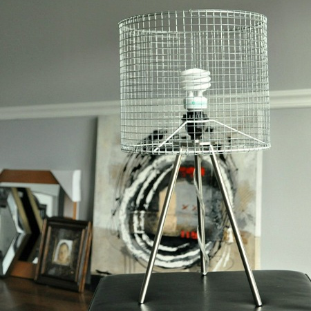 Crafty ideas to use wire for home decor projects wire pendant light chandelier wire mesh table lamp