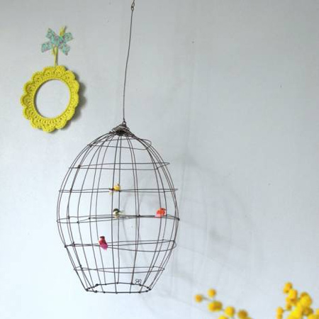 Crafty ideas to use wire for home decor projects name for birdhouse