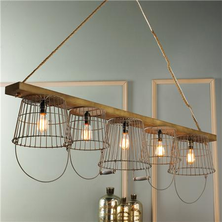 Crafty ideas to use wire for home decor projects wire pendant light wire basket chandelier