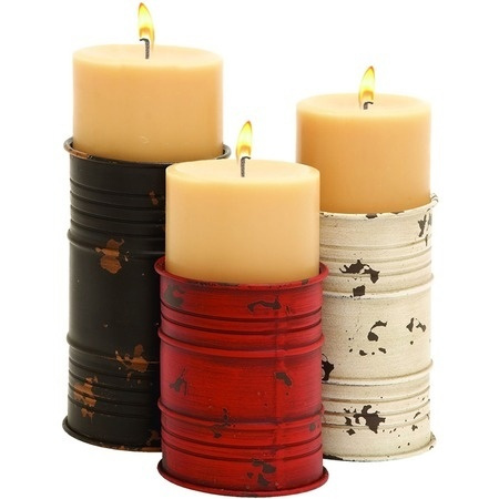 Home dzine craft ideas best recycled can ideas for Can you paint candles with acrylic paint