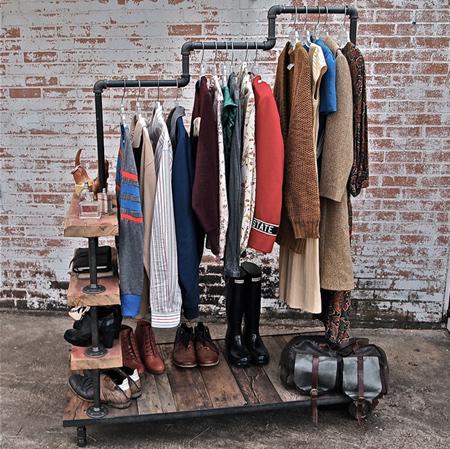 Galvanised pipe clothes racks and rails