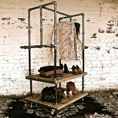 HOME DZINE Home DIY Galvanised Pipe Clothes Racks amp Rails