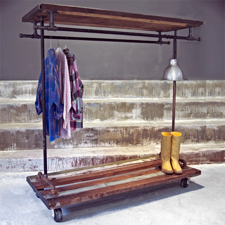 Galvanised galvanized pipe clothes racks and rails
