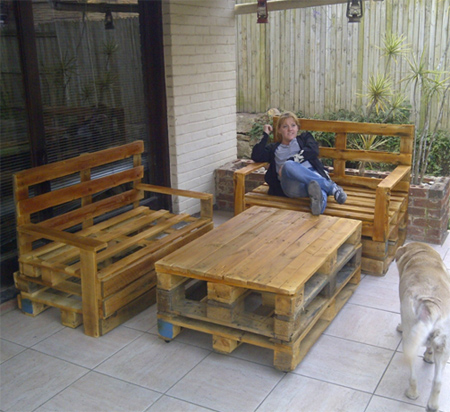 wooden pallets furniture. Delighful Furniture Danny In Durban Turned Raw Wood Pallets Into Outdoor Garden Furniture For  His Home Wood That Are Manufactured Locally Deliveries Within South  To Wooden Pallets Furniture