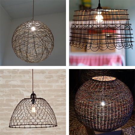 Home dzine home decor diy options for pendant lamps diy options for pendant lamps lampshades keyboard keysfo
