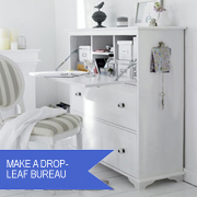 Make a drop-leaf bureau / home office