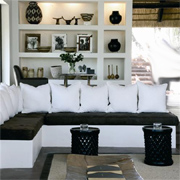 Modern African-themed interiors