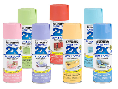 Colourful ideas for a casual eat-in kitchen rust-oleum 2x spray paint