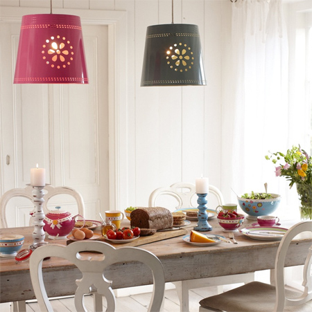 Colourful ideas for a casual eat-in kitchen diy lights