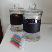 Create polka dot kitchen canisters
