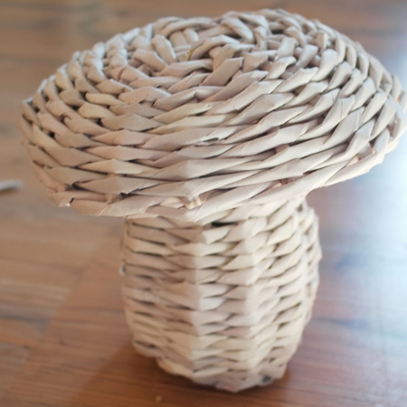 newspaper paper weave decorative toadstool roller paper tubes
