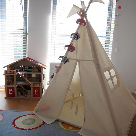 HOME DZINE Bedrooms | Teepee tents for a child\'s bedroom