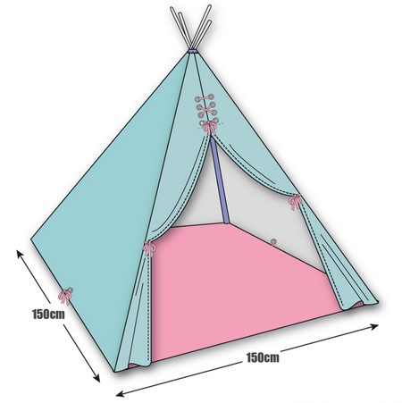 HOME DZINE Craft Ideas   Make a wigwam or teepee for indoor and ...