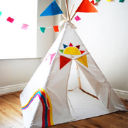 Teepee tents for a child's bedroom