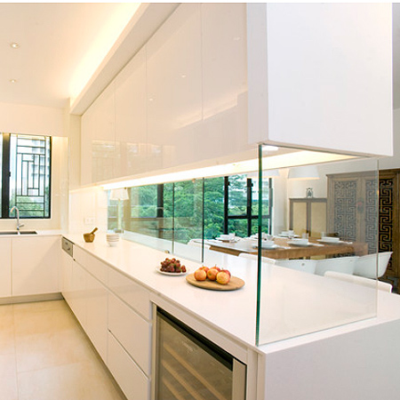 HOME DZINE Kitchen Closing Off An Open Plan Kitchen Or Semi Open Plan Kitch