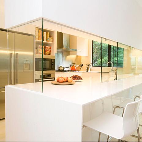 Home dzine kitchen closing off an open plan kitchen or semi open plan kitchen design - Closed kitchen design ...