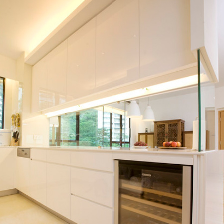 Home Dzine Kitchen Closing Off An Open Plan Kitchen Or Semi Open Plan Kitchen Design