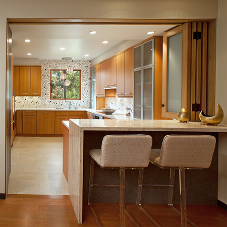 Home dzine kitchen closing off an open plan kitchen or for Open kitchen design