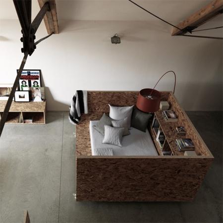 Ochre Barn: Sterling Board/OSB Furniture By Carl Turner Architects
