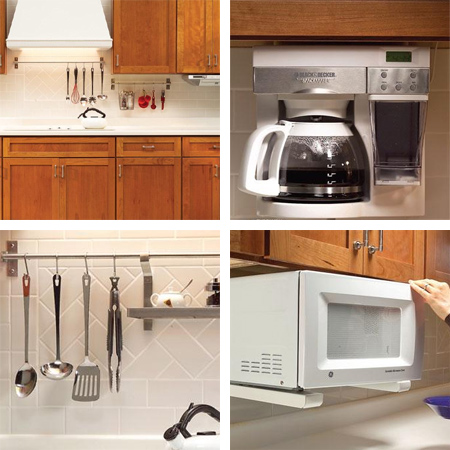 Where countertop space is limited, look at ways to mount appliances ...