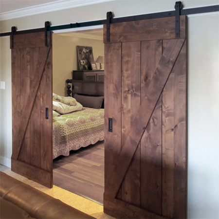Home Dzine Home Diy Diy Barn Style Sliding Door