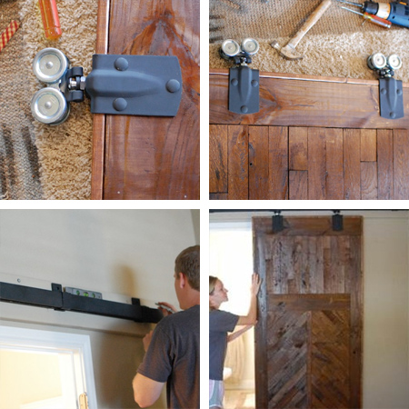 instructions make a barn style sliding door or fit sliding door kit - or make sliding door hardware