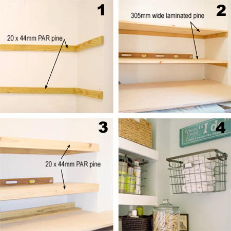 HOME DZINE Home DIY Quick And Easy Wall Shelves