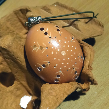 Use a Dremel MultiTool to make Pysanka (lace) eggs