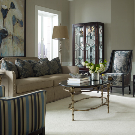 Decorating a home with patterns stripes florals damask