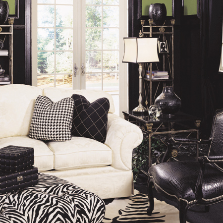 Decorating a home with patterns zebra stripes check geometric