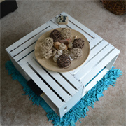 Coffee table using reclaimed or made crates