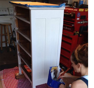 Restore antique or vintage chest of drawers paint wood